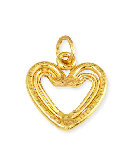 22K Yellow Gold Heart Trio Pendant