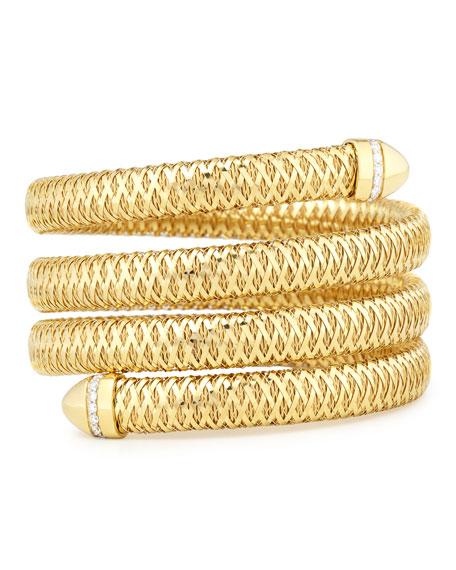 Roberto Coin Primavera 18K Diamond Coil Bracelet
