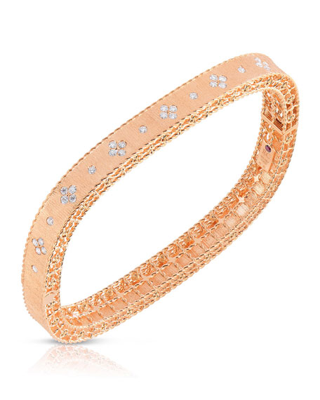 Roberto Coin Princess 18K Rose Gold Narrow Diamond