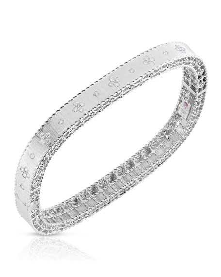 Roberto Coin Princess 18K White Gold Narrow Diamond