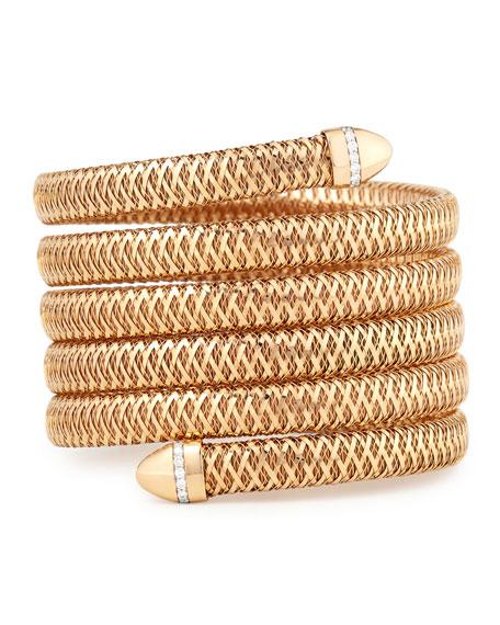 Primavera 18K Rose Gold Diamond Coil Bracelet