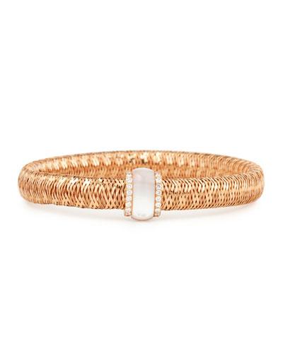 Primavera 18K Rose Gold Mother-of-Pearl & Diamond Station Bracelet