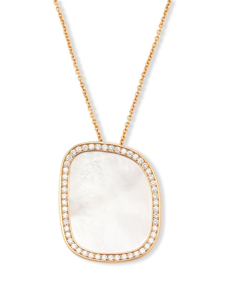 Roberto Coin Mother-of-Pearl 18K Rose Gold Pendant Necklace
