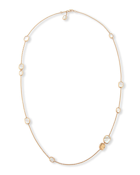 Mother-of-Pearl 18K Rose Gold Station Necklace, 31