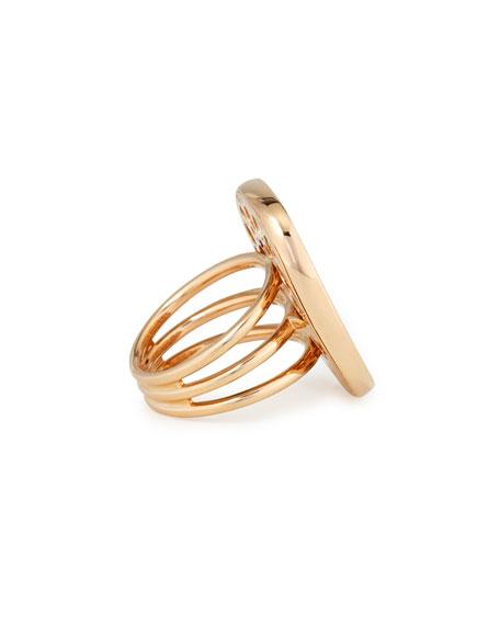 Golden Jade 18K Rose Gold & Pavé Diamond Ring