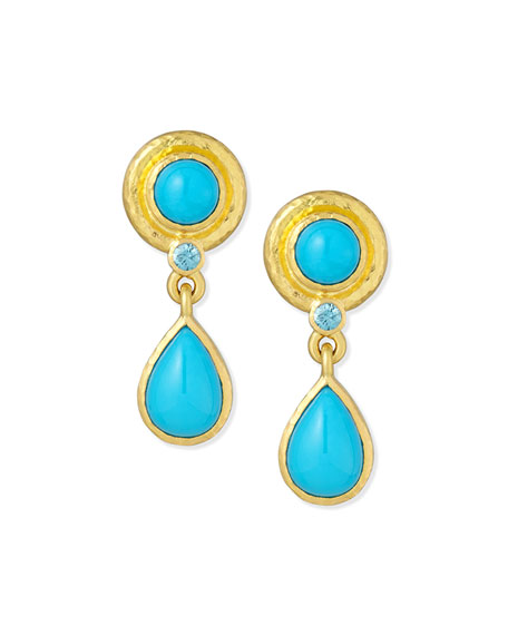 19K Turquoise Drop Earrings