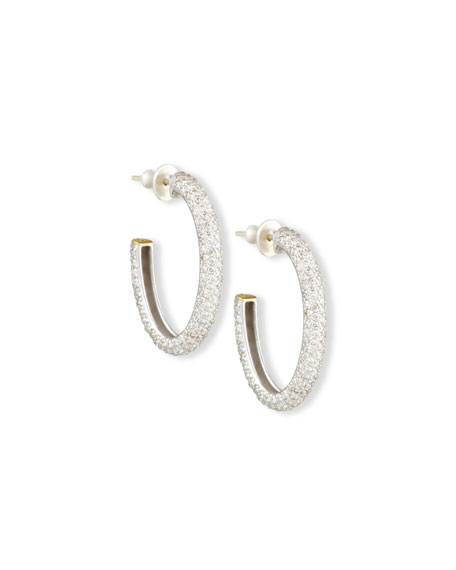 Gurhan Galahad Pavé Diamond J Hoop Earrings