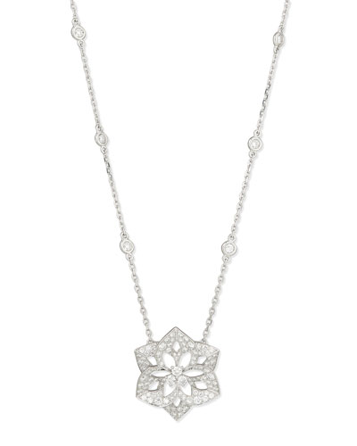 Pensee 18K White Gold Diamond Pendant Necklace