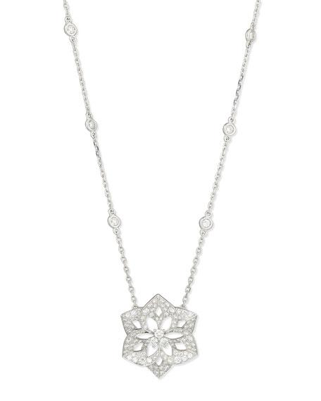 Pensee 18K White Gold Diamond Pendant Necklace