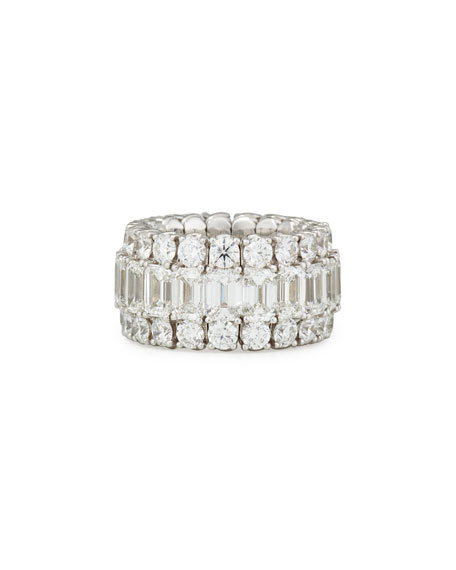 Picchiotti 18K White Gold Expanding Diamond Ring