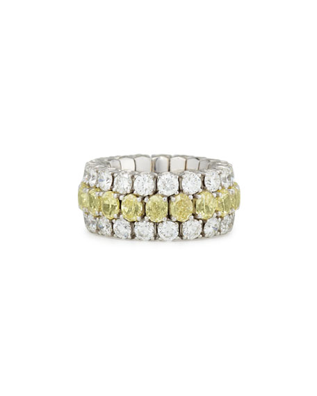 Picchiotti 18K White Gold Expanding Yellow & White