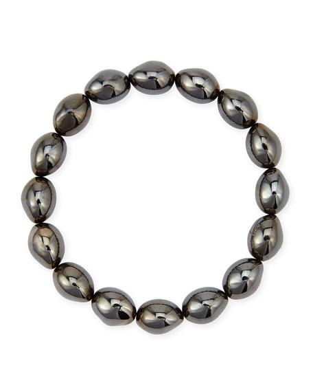 Michael Aram Molten Black Rhodium Bead Stretch Bracelet