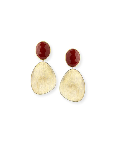 Lunaria Red Jasper & 18K Gold Earrings