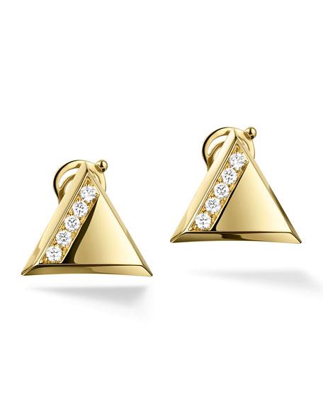 Triangoli Pavé Single-Row Diamond Stud Earrings