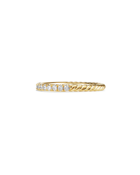 Cable Collectibles Pavé Diamond Band Ring in 18K Yellow Gold, Size 7