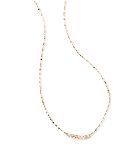 14K Gold Expose Charm Necklace with Diamonds