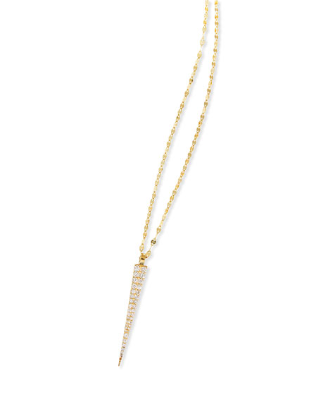 14K Expose Spike Pendant Necklace with Diamonds