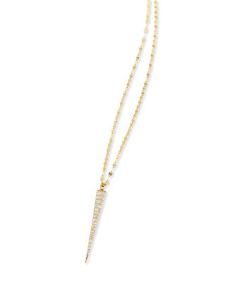 14K Expose Spike Pendant Necklace with Diamonds