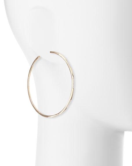 Expose 14K Gold & Diamond Hoop Earrings