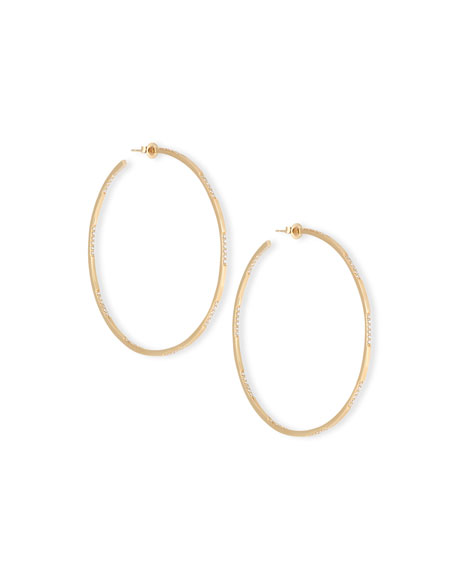 Expose 14K Gold & Diamond Hoop Earrings