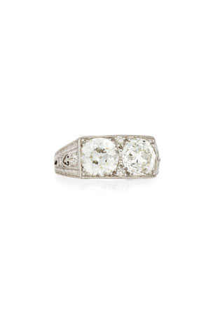 NM Estate Estate Art Deco Two-Stone Diamond Engagement Ring, Size 7