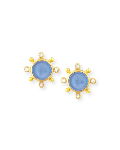 19K Tiny Bee Stud Earrings