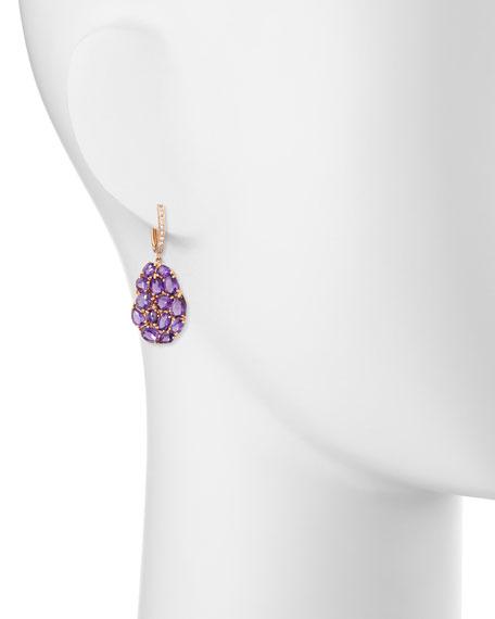 Signature 18K Rose Gold Amethyst & Pink Sapphire Drop Earrings