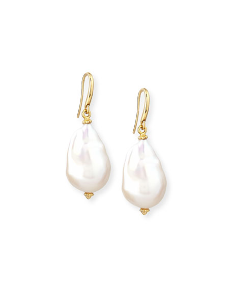 New Essentials Baroque Pearl Drop Earrings