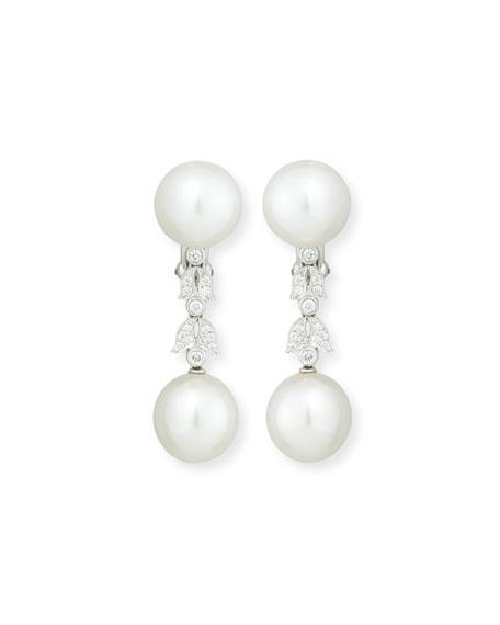 Assael South Sea Pearl Button & Diamond Drop