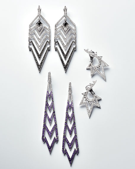Lady Stardust Graduated Black & White Diamond Earrings