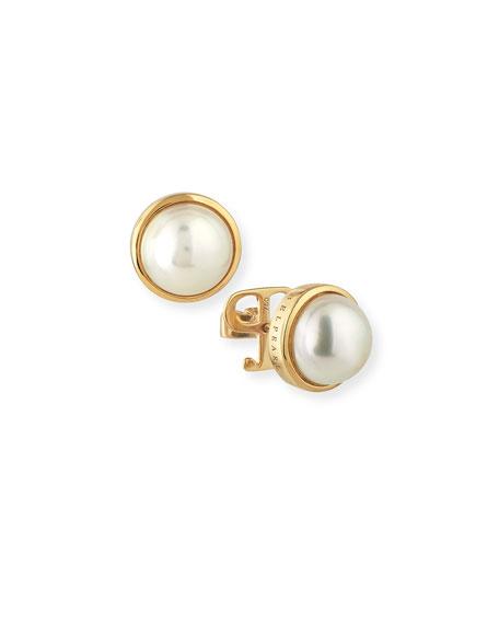 Kobe Logo Akoya Pearl Earrings