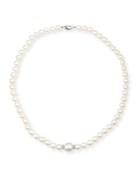 Belpearl Aura 18K White Gold Pearl & Diamond