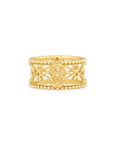 Flamenco 18K Carved Lace Ring, Size 7