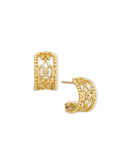 Flamenco 18K Lattice Hoop Earrings