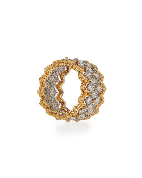 Rombi 18K Gold Diamond Ring, 1.02 tdcw, Size 55