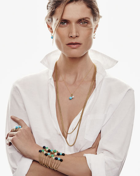 Solari 18K Gold & Pearl Pendant Necklace with Diamonds
