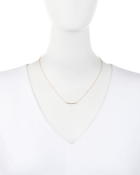 Lumiere 14K Rose Gold & Champagne Diamond Bar Necklace