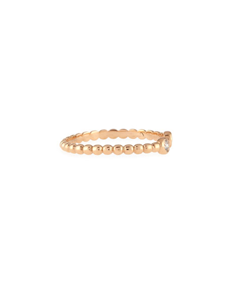 Beads 14K Rose Gold & Diamond Double-Solitaire Ring, Size 7