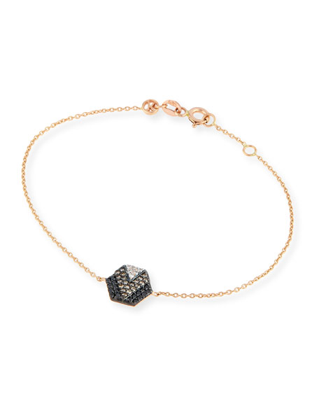 Kismet by Milka Sheriff Star 14K Rose Gold & Ombre Diamond Hexagon ...