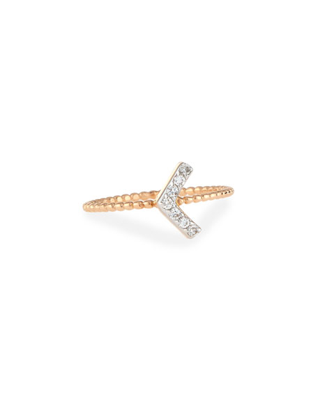 Kismet by Milka Sheriff Star Diamond Chevron Ring,