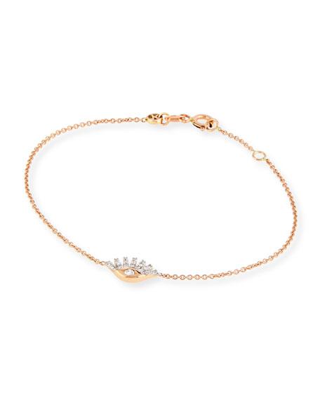Protect Me 14K Rose Gold & Sapphire Evil Eye Bracelet