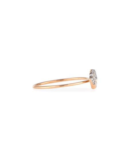 Protect Me 14K Rose Gold & Diamond Evil Eye Ring, Size 7