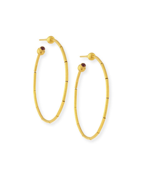 24K Small Rain Hoop Earrings