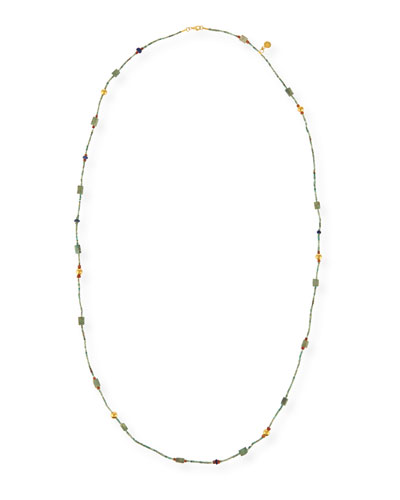Phoenician Mixed Turquoise Bead Necklace, 39.5