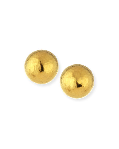 11mm Spell Classic 24K Gold Button Earrings