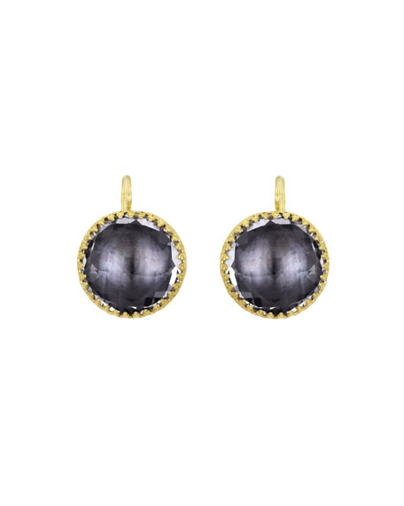 Olivia 18K Yellow Gold-Washed Button Earrings, Gray