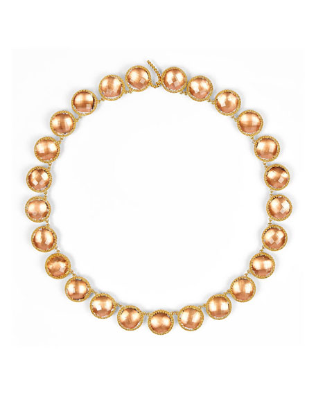 Olivia 18K Yellow Gold-Washed Button Rivière Necklace, Bellini