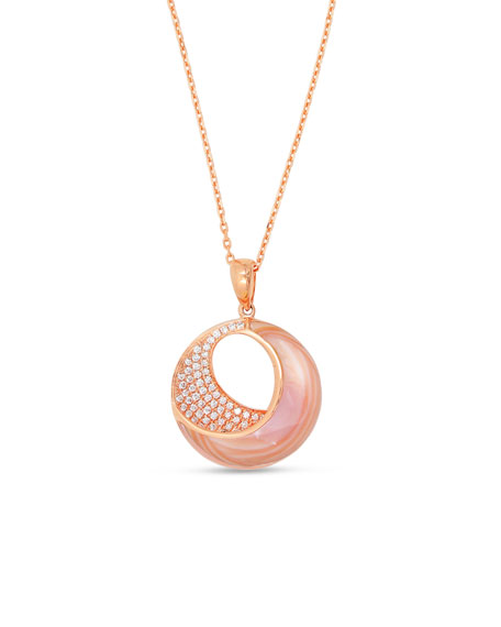Venus 18K Pink Gold & Mother-of-Pearl Pendant Necklace with Diamonds