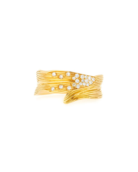 Michael Aram Palm Carved 18K Gold Ring with