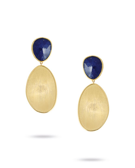 Lunaria Lapis Two-Drop Earrings